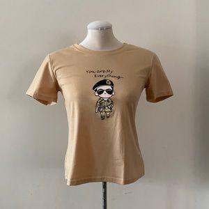NEW Beige Graphic T-Shirt